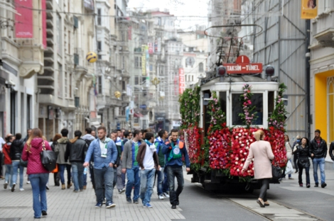 The tram from Taksim to Tunel