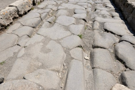 Ruts made by the Roman carts