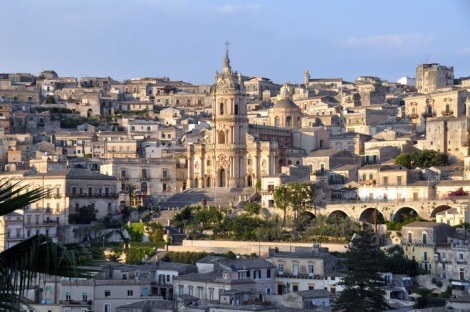 The Duomo in Modica seen from Casa Talia