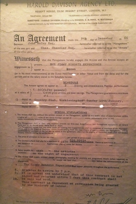 The contract for JHE in 1966...