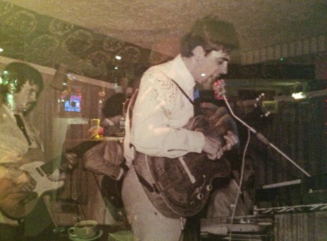 John McCoy at the Kirk in the late 1960s with a young Eric Clapton