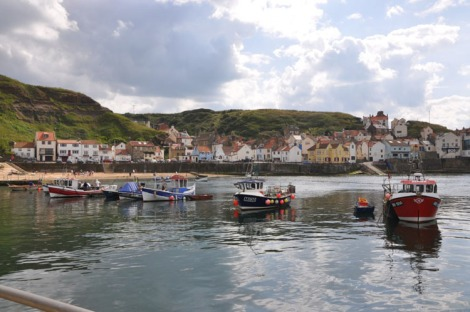 Staithes Harbour today from the breakwater