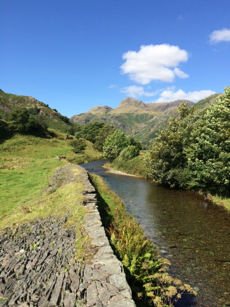 Langdale Pikes from the valley floor - nice gentle walk
