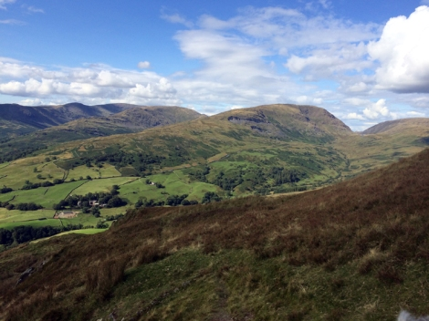 A quick afternoon's climb not far from the Punchbowl - Wansfell with the Kirkstone Inn in the distance
