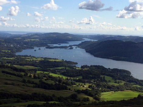 ...and the view south to Windermere