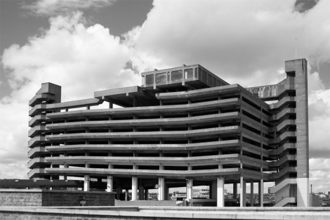 The Trinity car park in Get Carter - now demolished