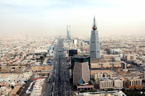 The Al Faisal Tower, with the Kingdom Tower in the background