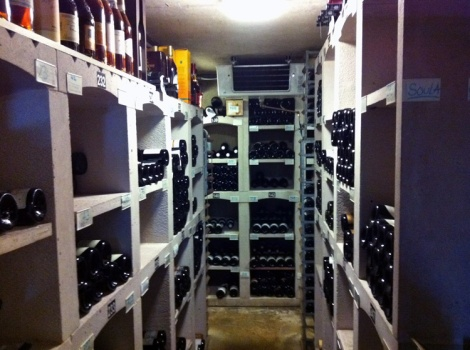 The wine cellar...in the cellar