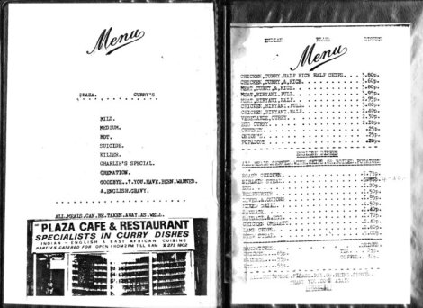 The menu - 1980s prices but the same choice