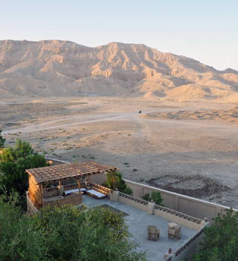 The view from the roof towards the Valley of the Kings