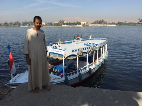 A water taxi across to Luxor