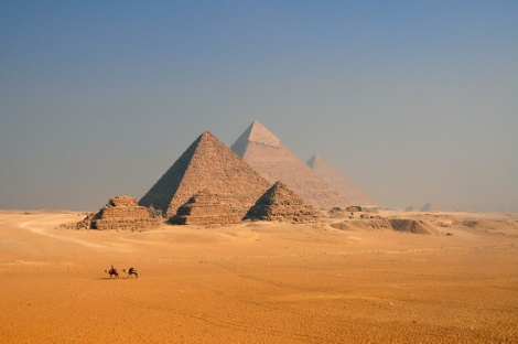 The pyramids without tourists
