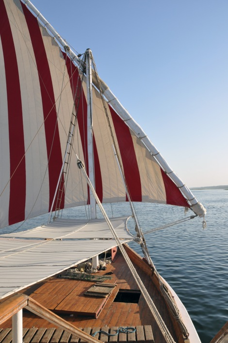 Sails set...