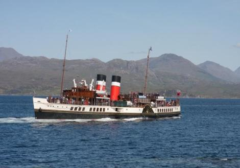 The famous Waverley paddle steamer