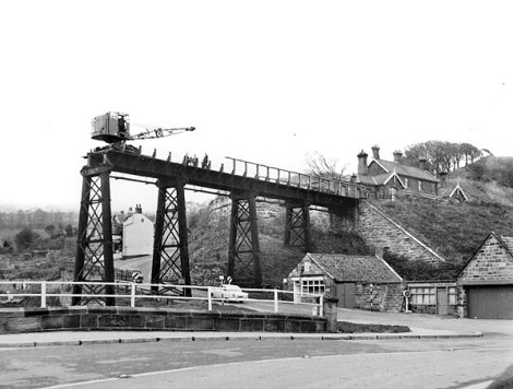 Demolition of Sandsend viaduct in 1960