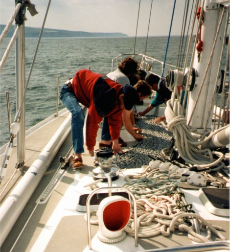 Getting the anchor chain ready...never been used before