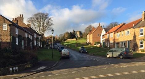 Crayke Village...on a hill!
