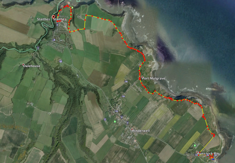The walk from Staithes to Runswick...
