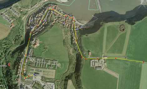 The alternative route back through Staithes village