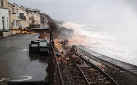 The railway at Dawlish
