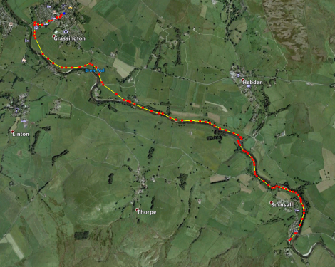 Burnsall to Grassington, 3.5 miles
