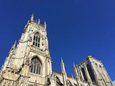 York Minster. No scaffolding and a typical Yorkshire sky...