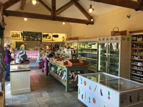 High quality farm shop - and they do butchery courses...