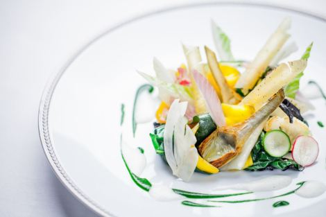 Vegetable starter - a work of culinary art