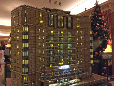 Gingerbread Dorchester Doll's House...part of the Christmas decorations