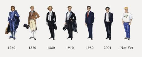The evolving dress code...