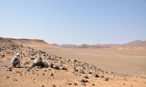 The astonishing landscape...