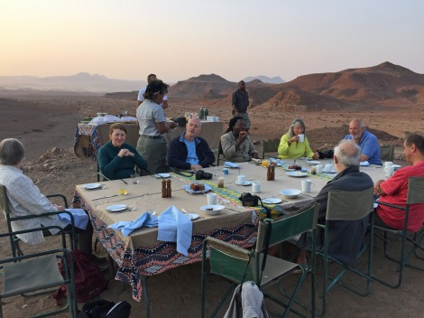 Breakfast in the desert...