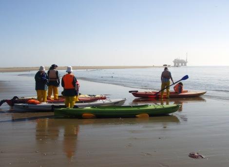 Kayaks at the ready...