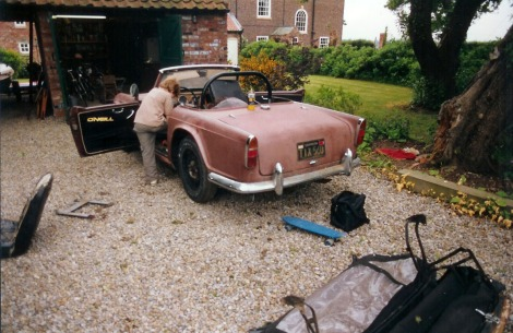 The TR4A before restoration...