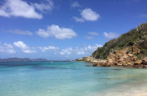 Peter Island beach...